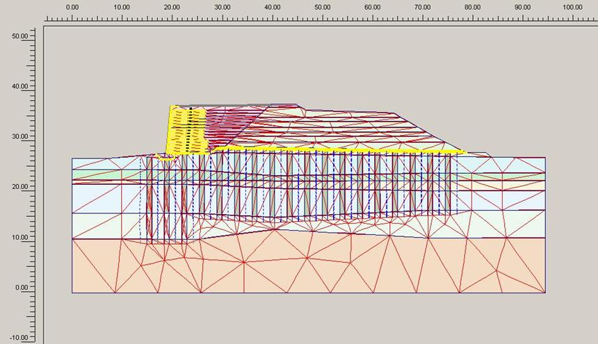 Расчетная схема геотехнической